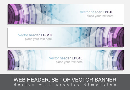 precise: Creative web header or banner for your project. Design with precise dimension. Vector illustration.