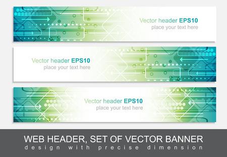 ウェブサイトのヘッダーやバナーの分離、技術的なパターンを持つベクトルの抽象的デザイン テンプレート。  イラスト・ベクター素材