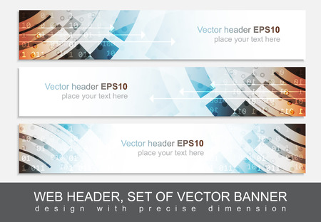 web banner: Web header or banner for your project. Design with precise dimension. Vector illustration.