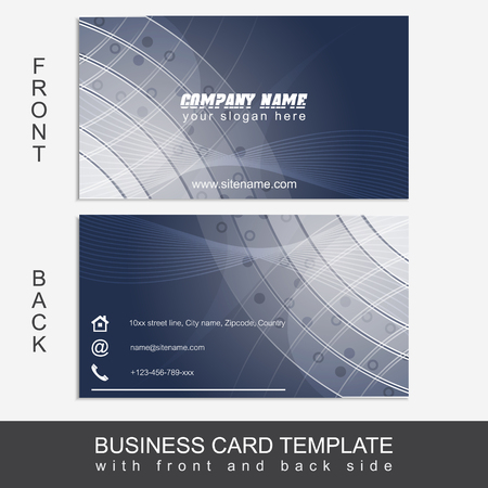 publishing: Abstract business card template or visiting card set. Design for publishing, print and working presentation. Editable vector design.