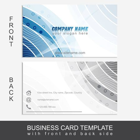 presentation card: Modern abstract business card template or visiting card set. Editable design for your personal or business presentation.