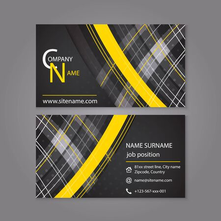 individual: Business card template design. Vector illustration for your individual or company presentation.