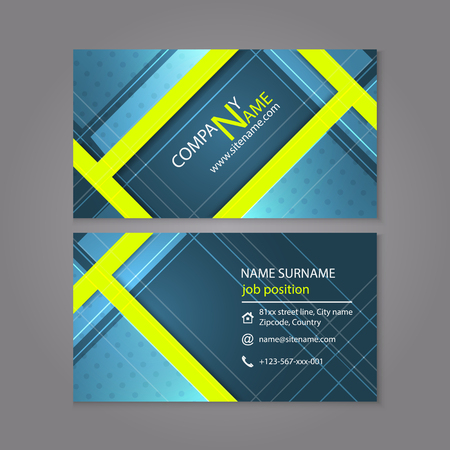 Professional business card template design or visiting card set professional business card template design or visiting card set stock vector 44166184 flashek Choice Image