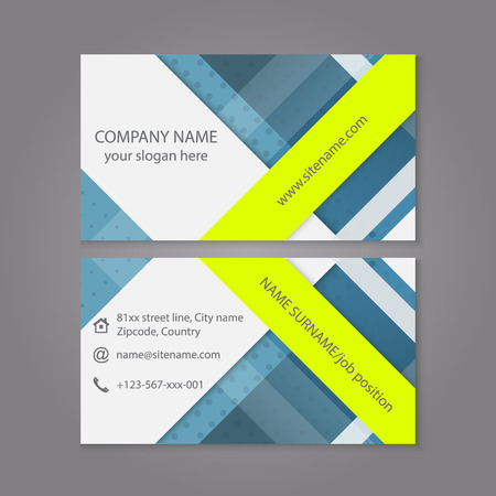 publishing: Modern simple business card template or visiting card set. Design for publishing, print and working presentation. Editable vector design.
