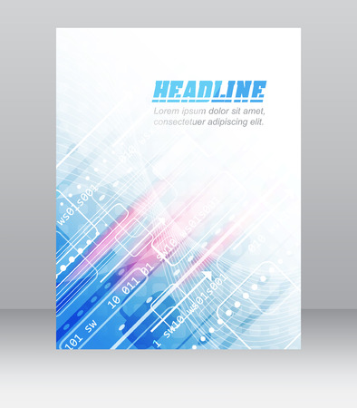 cataloged: Abstract flyer or cover design with technological pattern for your business presentation or publishing, vector illustration