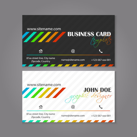 alter: Corporate business card template. The multiple layers are easy to edit to alter text. Vector illustration. Illustration