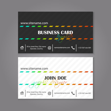 individual: Modern black and white corporate business card template. Design for your companies or individual presentation, vector illustration. Illustration
