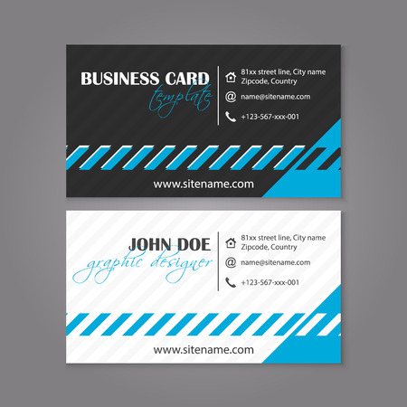 individual: Business card template design for Individual or business presentation, vector illustration Illustration