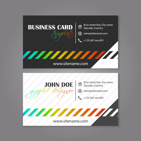 individual color: Corporate business card template. Creative card for professional companies or individual presentation. Vector illustration.