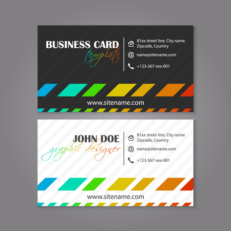 individual: Business card template coloruful design for individual or business presenation, vector illustration