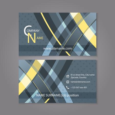 affiliation: Professional business card template design. Editable vector illustration for company or individual presentation. Illustration