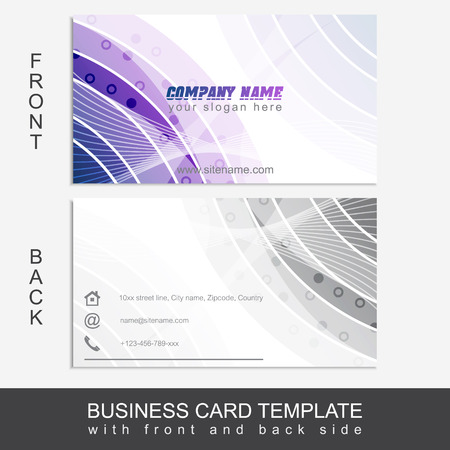 presentation card: Modern abstract business card template or visiting card set. Editable vector design for your personal or business presentation.