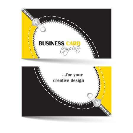 the information card: Creative business card template with zip arc, can be used for company or individual presentation, vector illustration Illustration