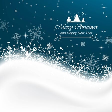 wallpaper image: Snow vector background with snowflakes, Merry Christmas greetings.