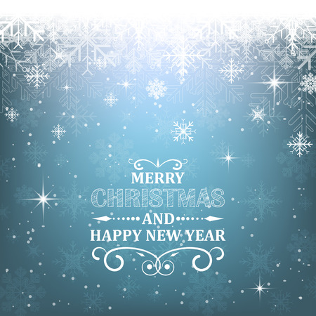traditionally: Christmas vector background with decorative heading a light effect. Happy New Year illustration, design for your greetings. Illustration