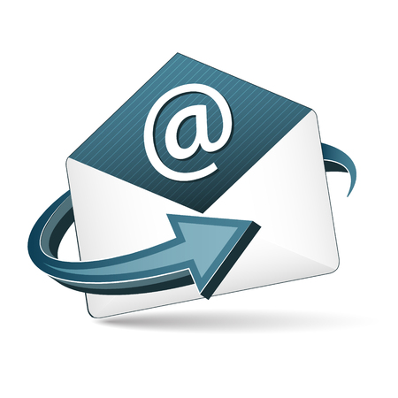 open envelope: Open envelope. Email concept with arrow. Vector icon.