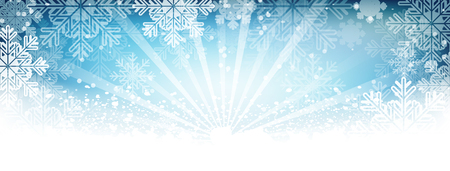 winter wallpaper: Winter wallpaper. Snow, snowfall, snowflakes and shiny effect. Vector illustration. Illustration