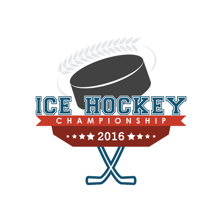 team sport: Ice hockey championship emblem. Design for your sport graphic project. Illustration