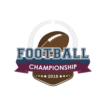 Football championship emblem. Design for your sport graphic project.
