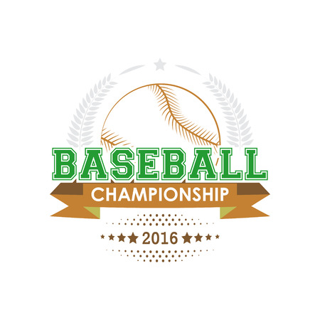 Baseball championship emblem. Design for your sport graphic project. 일러스트