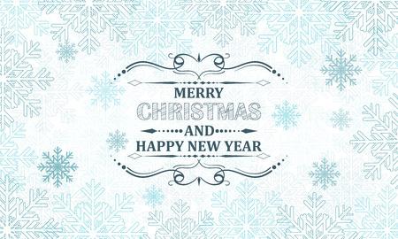 schneeflocke: Weihnachten Schneeflocken Vektor Hintergrund mit dekorativen Schlagzeile.