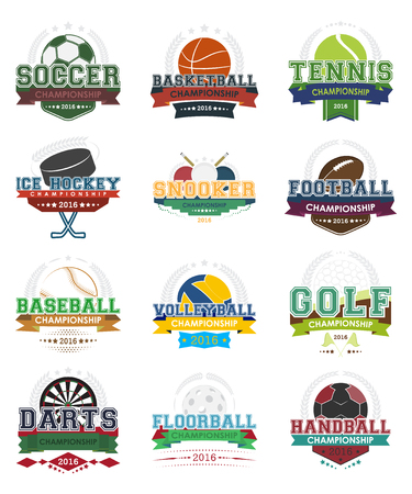 footbal: Set of sport vector icons, vector illustration. Design for your sport project.