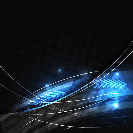 빛나는 라인과 하프 톤 효과 추상적 인 벡터 배경입니다. 텍스트를위한 공간 디자인.