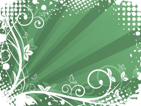 espiral: Natural de fondo con forma de espiral, el grunge y el efecto de semitono. Ilustraci�n del vector con el espacio para el texto o la edici�n creativa.