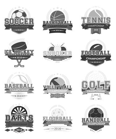 Set of sport vector icons,illustration. Design for your sport project. Illustration