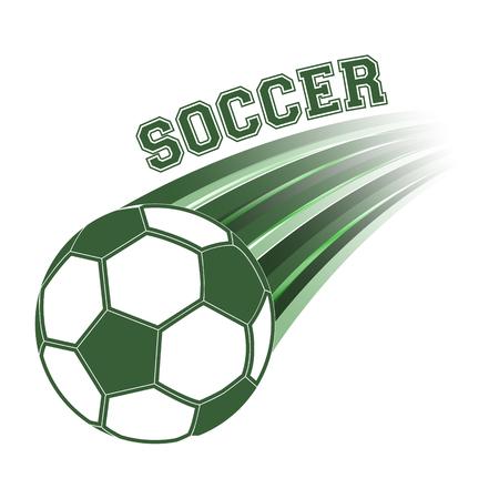 win: Soccer ball vector illustration