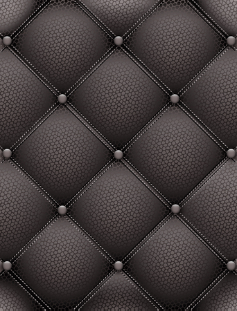 texture leather: Black leather upholstery furniture. Vector symmetric illustration for your design.