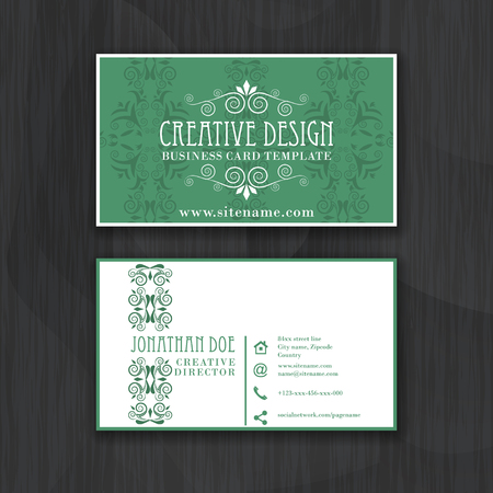 Vintage elegant horizontal business card template for personal vintage elegant horizontal business card template for personal royalty free cliparts vectors and stock illustration image 50179183 reheart Images