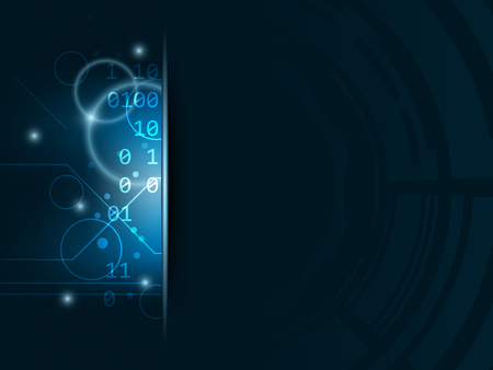 technological: Technological abstract vector background with bubbles, shiny effect and stripe for your text.