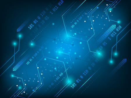 Vector hi-tech circuito futuristico tecnologia digitale sfondo.
