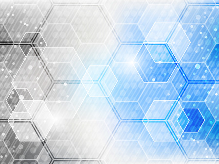 Abstract futuristic technological vector background with hexagon pattern.
