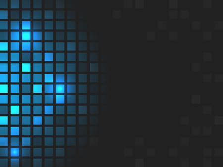 editing: Abstract vector blue mosaic shiny background. Design with stripe for your text or creative editing.