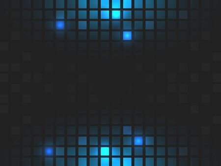 square abstract: Abstract square dark blue mosaic background with place for your content. Vector illustration. Illustration