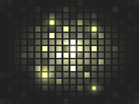 editing: Abstract vector golden mosaic pixel background. Design with stripe for your text or creative editing. Illustration
