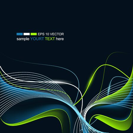 wavy lines: Abstract modern wavy background with glowing lines and place for your text. Vector illustration.