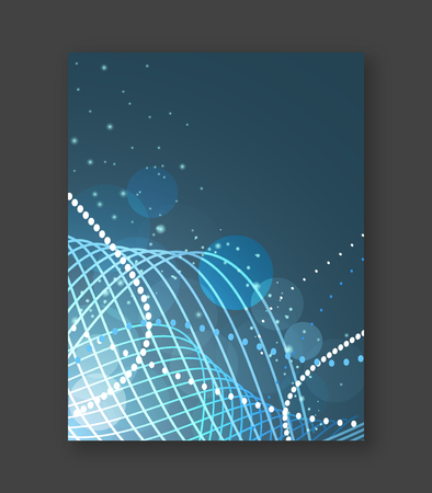 abstract swirls: Abstract business flyer or cover design for your graphic project. Vector illustration.