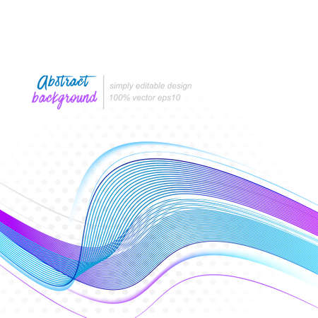place for your text: Wave abstract vector background. Design with place for your text. Illustration