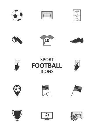 yellow card: Basic soccer or football icons set. Vector illustration.