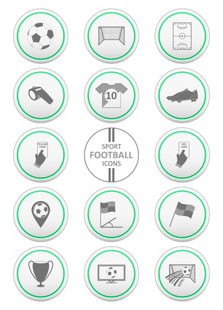 offside: Soccer and sport icons set. Vector illustration.