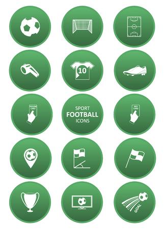 yellow card: Football or soccer sport icons set. Vector illustration. Illustration
