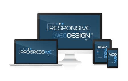 adaptable: Responsive web design. Concept for presentation your responsive design.