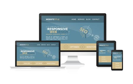 adaptable: Responsive design and web devices. Concept for your website presentation or inspiration.