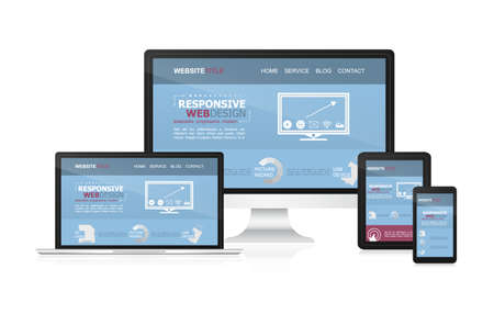 responsive: Responsive web design on different devices.