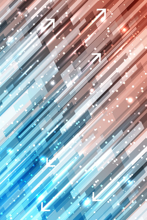 lineas rectas: Abstract shiny straight lines vector background with glitter and arrows.