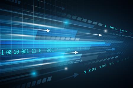 lineas rectas: vector tecnol�gico resumen futurista de fondo con l�neas rectas, brillo, flechas y n�mero. Vectores
