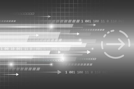 Astratte linee rette vettoriale sfondo futuristico tecnologica con il numero e le frecce.